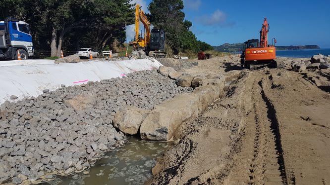 OPONONI SEA WALL_Geofabrics New Zealand